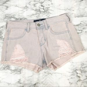 HOLLISTER NWT Pink Washed Cut-off Short Size 25